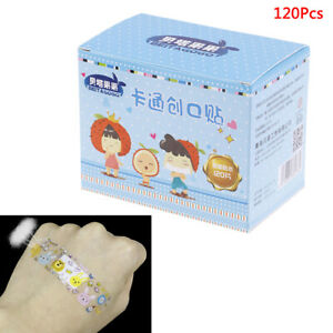 120Pcs-Breathable-Transparent-Pe-Cartoon-Band-Aids-Adhesive-Bandages-Stickers-FE