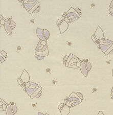Fat Quarter Sunbonnet Sue Cotton Quilting Fabric- 50cm x 55cm - Beige