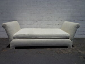Details about Vintage Daybed Chaise Lounge Settee Loveseat Sofa French  Lounge Shabby Chic