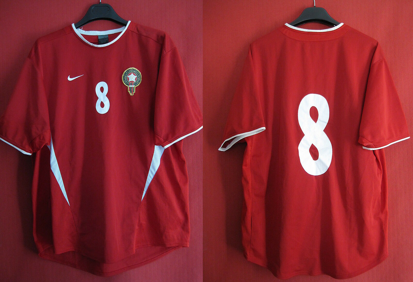 Maillot Morocco Olympic team Porté Maroc Shirt 2003 Tournament IFFT match worn