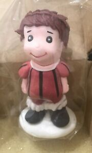 Soccer Player Cake Topper- Red Striped Party Cupcake Toppers Decorations Cakes