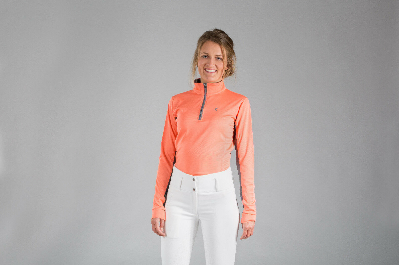 Horze Trista Women's Long-Sleeved Functional Shirt - Melon
