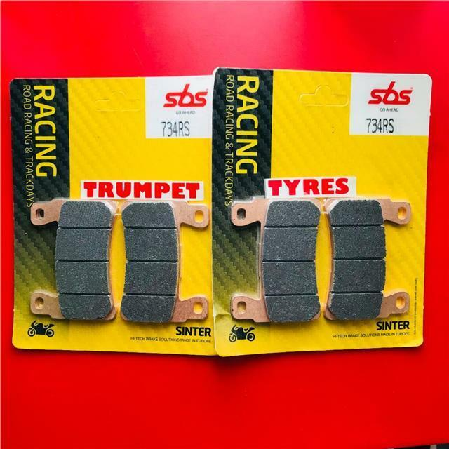 HONDA VTR 1000 SP 1 SP 2 00 > 06 FRONT SET BRAKE PADS SBS RACE SINTER 734RS