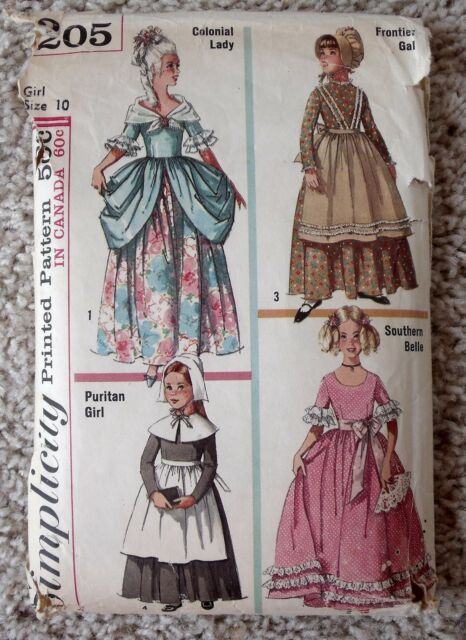 Vintage Simplicity 40 Southern Frontier Puritan Colonial Girl Stunning Colonial Dress Patterns