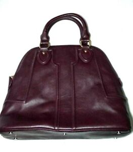 Sole-Society-Satchel-Taupe-Hand-Bag-Purse-Tan-Vegan-Leather-Purple