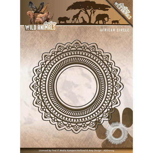 Wild Animals ADD10104 Afrika Circle Stanzschablone von Amy Design