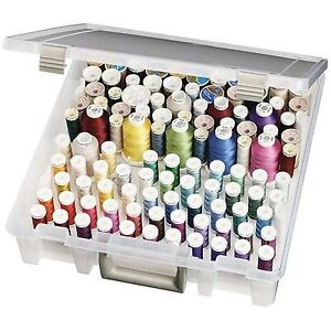 New Sewing Box Satchel+Removable Thread Tray Storage Organize Spool Quilting