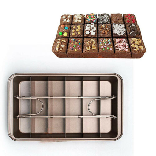 18 Holes Non Stick Brownie Pans with Dividers Carbon Steel Baking Pan Houshold