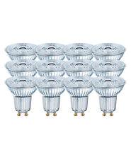 12 x OSRAM LED BASE PAR16 GU10 GLAS LED Strahler 4.3W=50W 36° 4000K Cool white