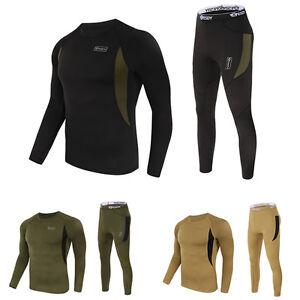 Military-Mens-Casual-Warm-Thermal-Underwear-Sport-Tops-Long-Johns-Leggings-Pants