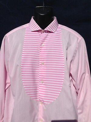"""Aspirante True Vintage Fatto A Mano Su Misura French Cuff Camicia 44"""" (112cm) Sul Petto- Aiutare A Digerire Cibi Grassi"""