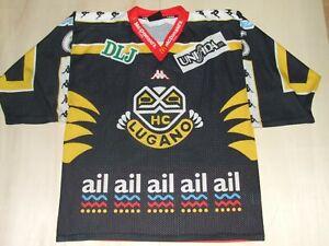 Camiseta-Shirt-Ice-Hockey-Hielo-Sport-HC-Lugano-N-6-T-M