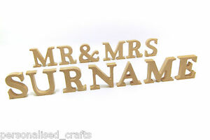 Wedding-Mr-and-Mrs-With-PERSONALISED-Surname-Freestanding-10cm-100mm-Letters
