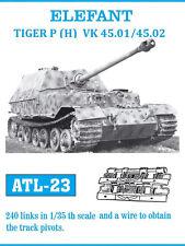 1/35 ATL23 FreeShip FRIULMODEL TRACK for GERMAN ELEFANT TIGER P (H) VK45.01