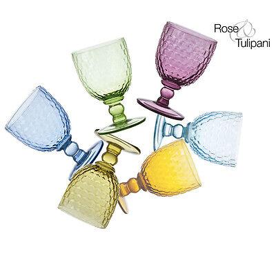 Rose e Tulipani - Opera - Set 12 calici colori assortiti - Rivenditore
