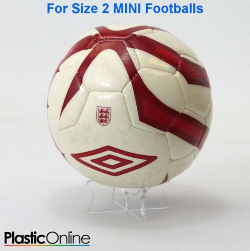 Acrylic MINI SIZE 2 Football Display Stand Ball Riser Plinth Signed Ball Holder