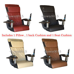 Spa Pedicure Chair Ebay >> Details About Ht138 Leather Pad Set Upholstery Back Pillow Seat For Massage Spa Pedicure Chair