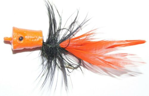 CORK BASS POPPER FEATHER COLLAR//TAIL, 3 PER PACK