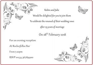 Wedding BlessingRenewal of Vows Invitations  25 Invitations Personalised - Harrogate, North Yorkshire, United Kingdom - Wedding BlessingRenewal of Vows Invitations  25 Invitations Personalised - Harrogate, North Yorkshire, United Kingdom