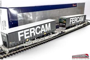 ROCO-76435-H0-1-87-Carro-trasporto-intermodale-con-due-container-Sdggmrs-T20
