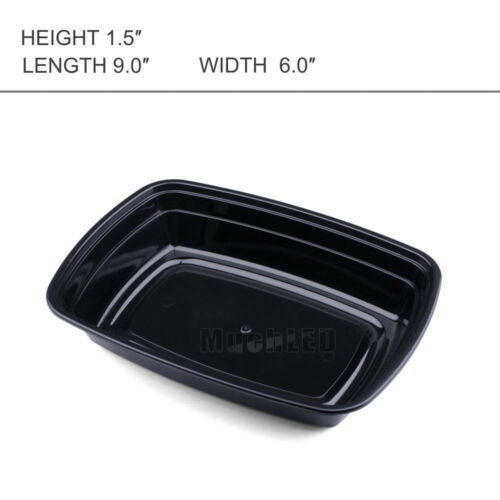 200 Pcs Microwavable Meal Prep Container Plastic Food Storage Reusable Lunch Box