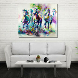 Details About Oil Painting Colored Horse Modern Abstract Canvas Wall Painting Home Room Decor