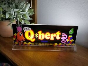 Q-BERT-QBert-Backlit-4-034-x-11-034-Marquee-w-The-Arcade-Light-Display
