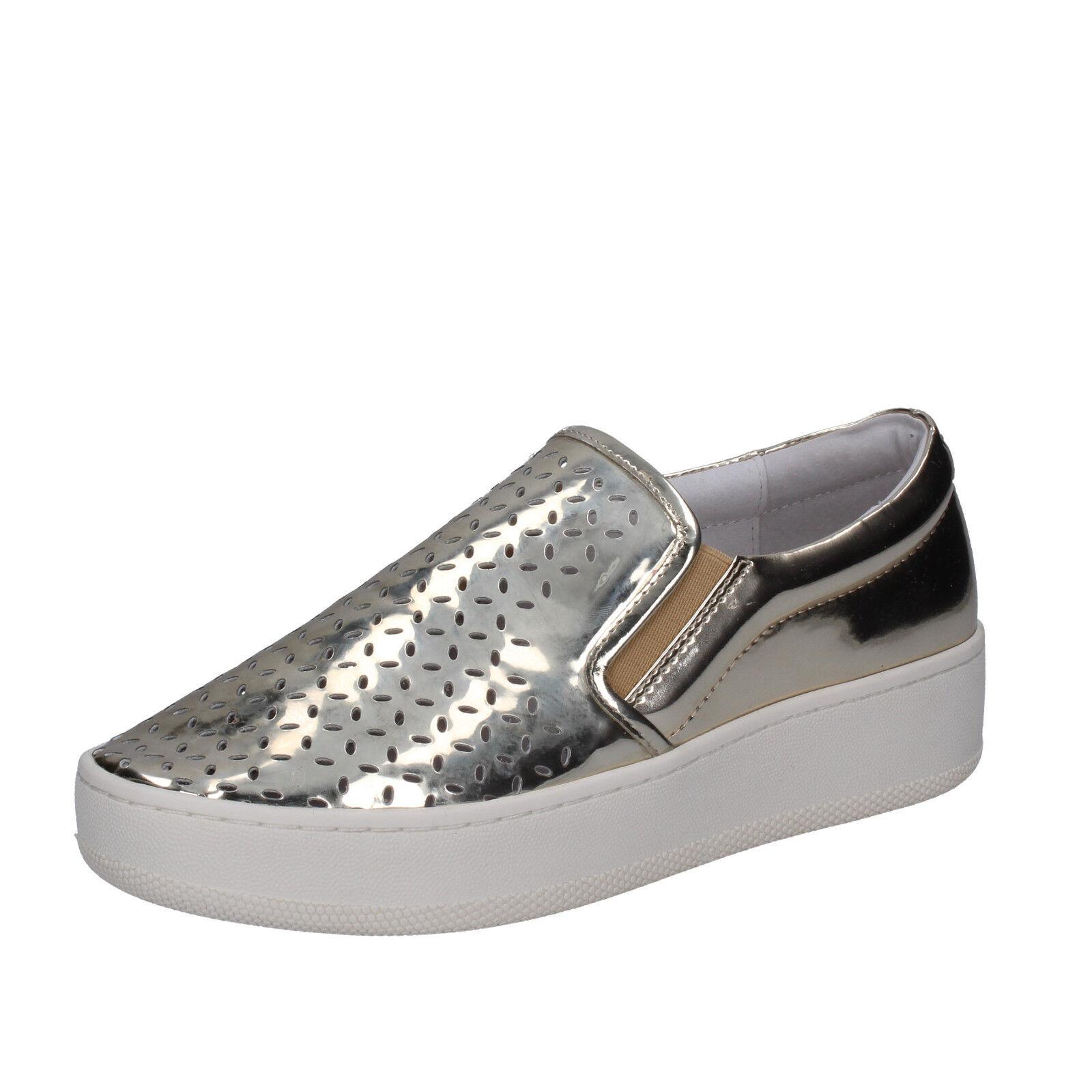 Para mujeres Zapatos uma Parker 10 () resbalón en el cuero dorado BT565-40