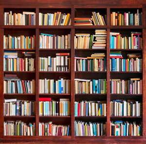 Image Is Loading 5x7ft Vinyl Bookshelf Bookcase Study Library School Photo