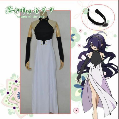 Seraph of the end Asuramaru Cos Dress Black White Cosplay Costume Free Shipping