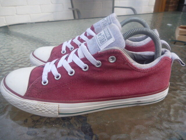 Mr/Ms CONVERSE SIZE Fine JUNIOR TRAINERS MAROON GREY Fine SIZE processing Low price Excellent stretching cb7d6b
