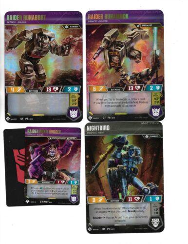 NEW Transformers War for Cybertron FOIL PROMO set FREE SHIP