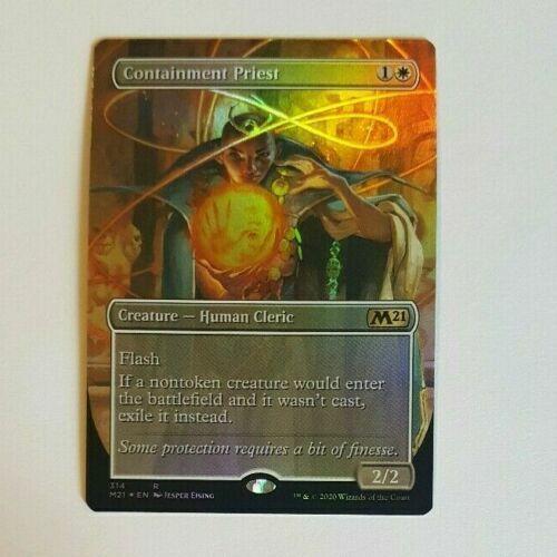 MTG Containment Priest Core Set 2021 Rare FOIL M//NM Pack Fresh!! Alternate Art
