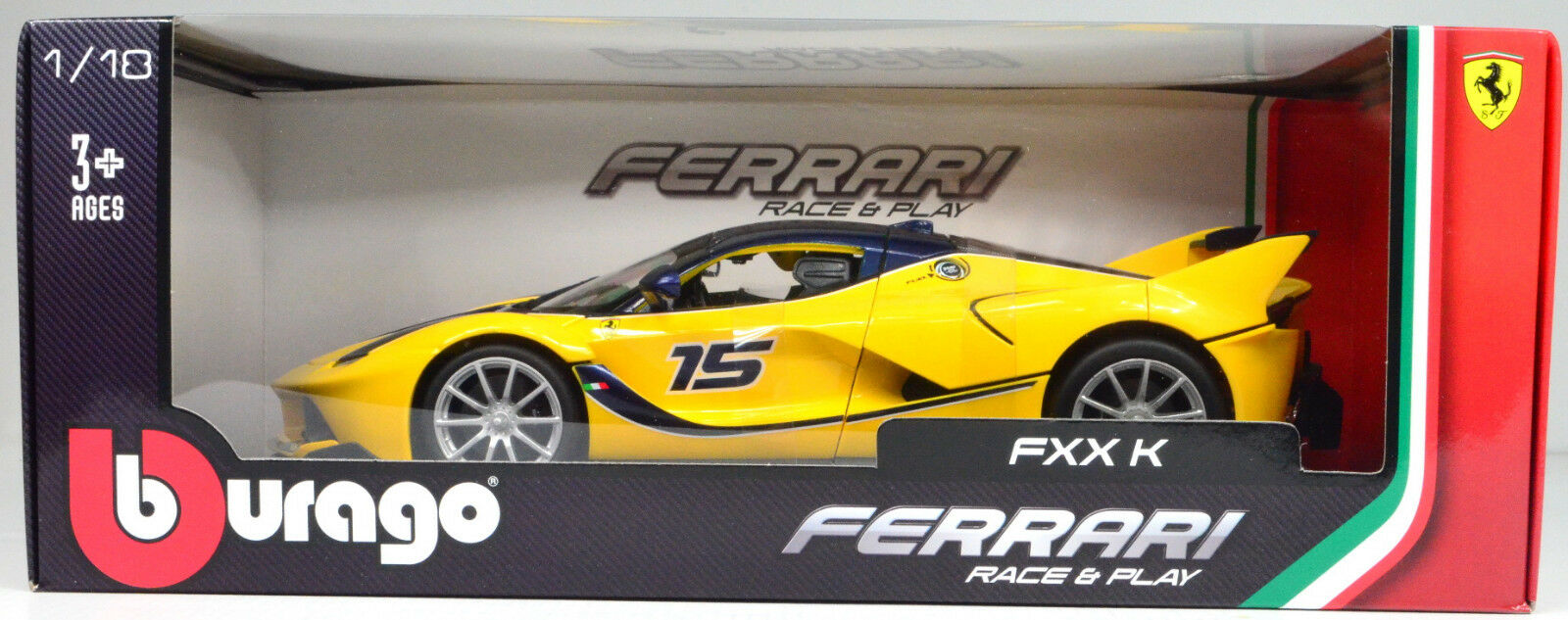 Ferrari FXX FXX FXX K gelb Maßstab 1 18 von Bburago  | Lebensecht  a7932c
