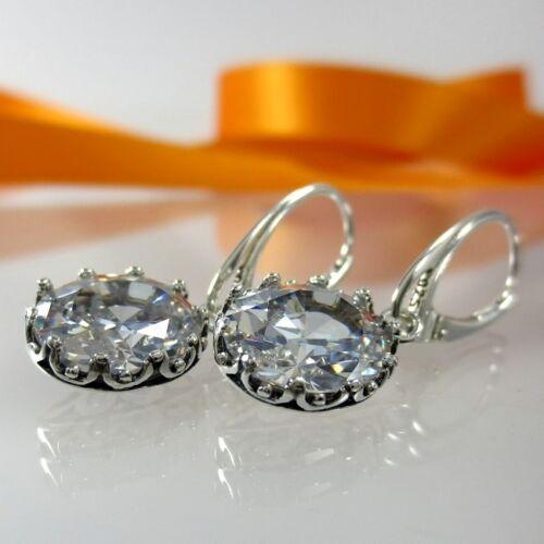A558 Ohrringe 925 Silber mit Kristall Vintage Style Filigrane Spitze Jugendstil