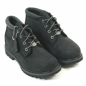 Timberland Nubuck Women's Ek Nellie Lace up Chukka Black Boot 23398 Leather RrRBq