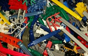 Lot of 100 MINI KNEX RODS /& CONNECTORS Mixed Pieces Parts K/'NEX