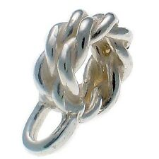 Sterling 925 Silver Dangle Carrier Hanger To Fit Charm Snake Style Bracelets. RT