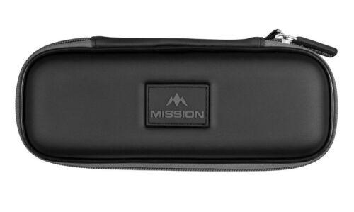 Mission Freedom Slim Dart Case Black Gray Holds Fully Assmbled Set of Darts