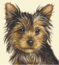 YORKSHIRE TERRIER dog - FULL counted cross stitch kit