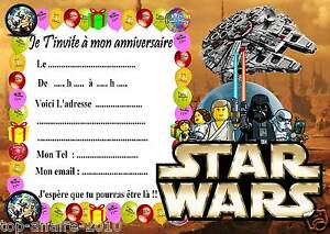 Beliebt 5 cartes invitation anniversaire Lego Star Wars 04 d'autres en  AD32
