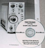 Tektronix 7t11a Sampling Sweep Manual Oper + Service