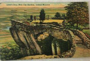1940s-Lookout-Mountain-TN-Linen-Postcard-Lover-039-s-Leap-in-ROCK-CITY-GARDENS-1950
