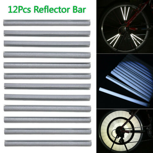 12Pcs Cycling Wheel Spoke Reflector Bike Bicycle Reflective Mount Clip Tube HOT