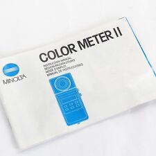 MINOLTA COLOR METER II Original Manual, Booklet, Instructions, Various Languages