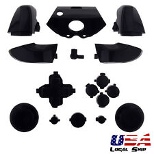 Solid Black Full Button Set Dpad RT LT RB LB ABXY Guide For Xbox One Controller
