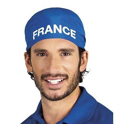 Bandana bleu supporter France adulte -81 x 57 x 57 cm polyester tout neuf