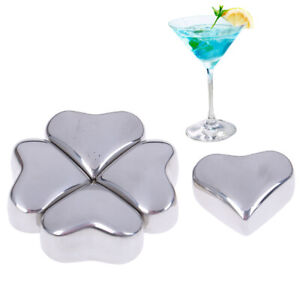 Love-Shape-Stainless-Steel-Ice-Cubes-Whiskey-Red-Wine-Summer-Iced-Drink-4
