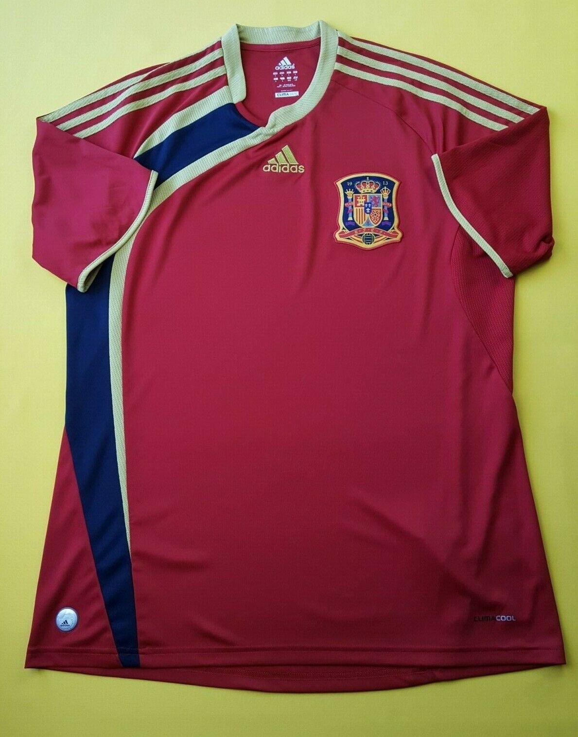 5 5 España Fútbol Jersey Camisa Grande 2009 2010 Hogar Fútbol Adidas ig93