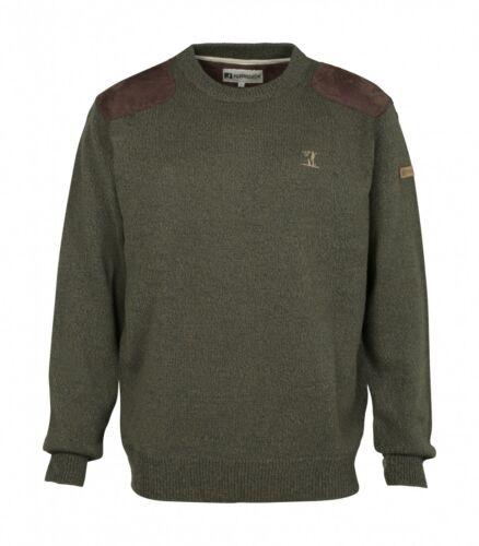 1567 Percussion Round Neck  Hunting Sweater Khaki Various Sizes